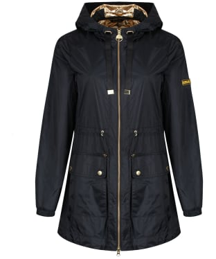 Women's Barbour International Wheelhouse Showerproof Jacket - Black