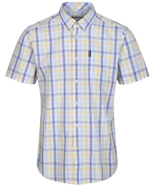 Men's Barbour Tattersall 14 S/S Tailored Shirt - Lemon