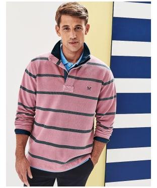 Men's Crew Clothing Padstow Pique Sweatshirt - Cassis / High Seas
