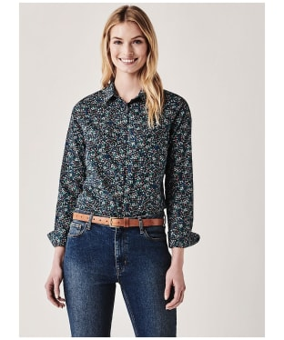 Women's Crew Clothing Lulworth Poplin Shirt - Navy Multi