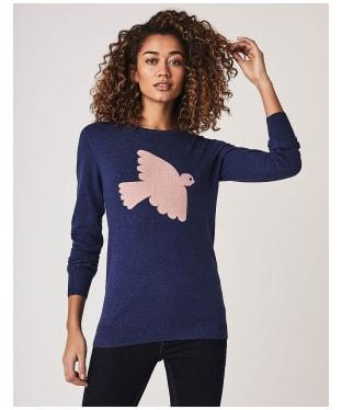 Women's Crew Clothing Bird Intarsia Jumper - Ultramarine / Pink
