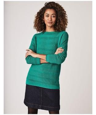 Women's Crew Clothing Salcombe Jumper - Alhambra Green