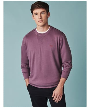 Men's Crew Clothing Crew Neck Pique Sweatshirt - Purple Dusk