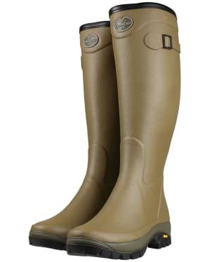 Women's Le Chameau Country Vibram Jersey Lined Wellington Boots - Vert Vierzon