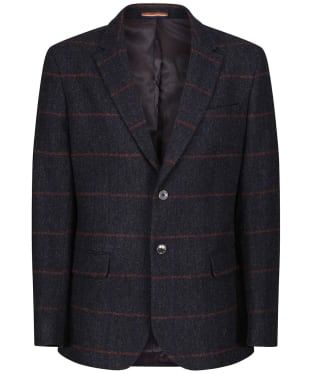 Men's Alan Paine Surrey Tweed Lined Blazer - Country Navy