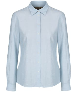 Women's Musto Country Linen Shirt - Pale Blue