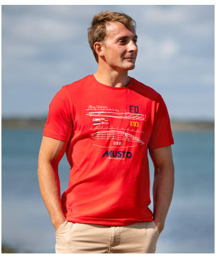 Men's Musto Flying Dutchman T-Shirt - True Red