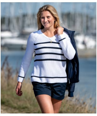 Women's Musto Sail Knit Jumper - White