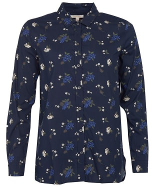 Women's Barbour Safari Shirt - Navy Print