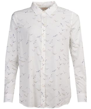 Women's Barbour Safari Shirt - Off White Gull Print