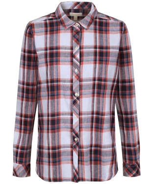 Women's Barbour Seaglow Shirt - Coral Check