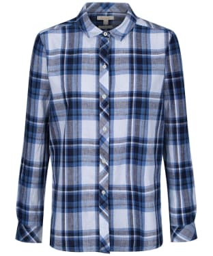 Women's Barbour Seaglow Shirt - Skyline Blue Check
