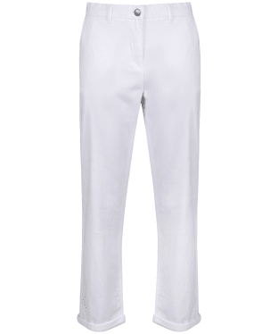 Women's Barbour Chino Trousers - White