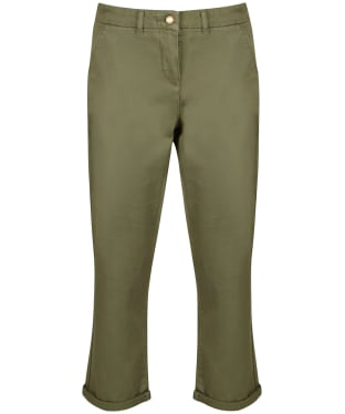 Women's Barbour Chino Trousers - Khaki Green