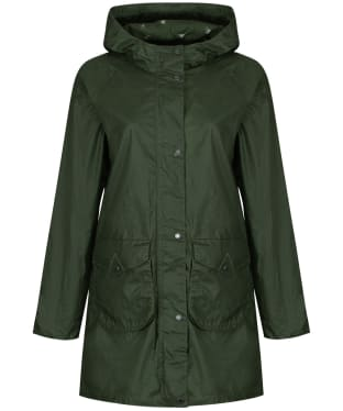 Women's Barbour Updrift Waxed Jacket - Duffle Green