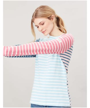 Women's Joules Harbour Top - BLUE/CREAM STRP
