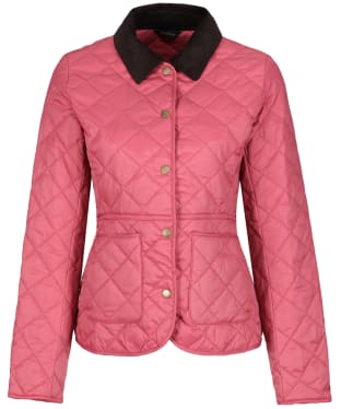Women's Barbour Deveron Quilted Jacket - Tayberry