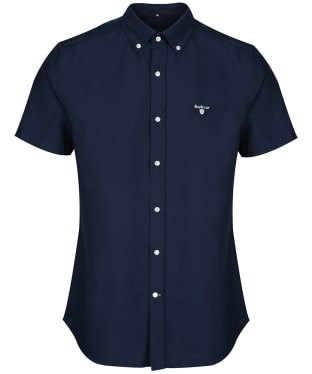 Men's Barbour Oxford 3 Short Sleeved Tailored Shirt - Navy