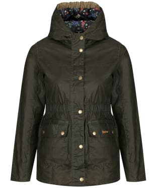 Girls Barbour Hamlet Waxed Jacket, 10-15yrs - Archive Olive