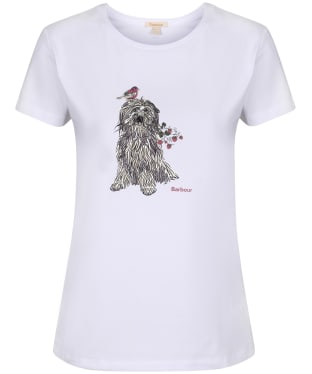 Women's Barbour Patterson T-Shirt - White