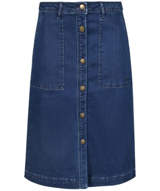 Women's Barbour Maddison Denim Skirt - Mid Wash
