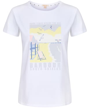 Women's Barbour Promenade Tee - White