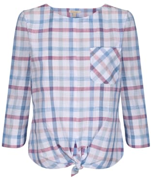 Women's Barbour Harbourside Top - Skyline Blue Check