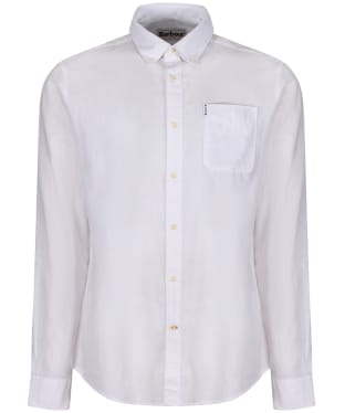 Men's Barbour Linen Mix 1 Tailored Shirt - White