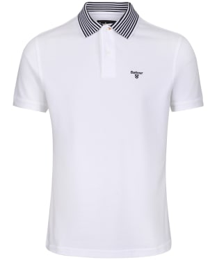 Men's Barbour Brathay Tipped Polo Shirt - White