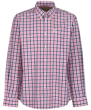 Men's Barbour Gingham 15 Regular Shirt - Pink Check