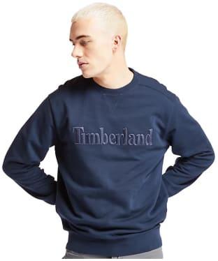Men's Timberland Exeter River Logo Embroidery Crew Sweater - Dark Navy