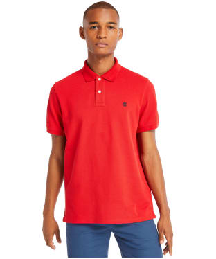 Men's Timberland S/S Millers River Polo Shirt - Barbados Cherry