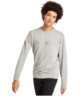 Men's Timberland Exeter River Logo Embroidery Crew Sweater - Grey Heather