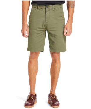 Men's Timberland Squam Lake Stretch Twill Straight Chino Shorts - Grape Leaf
