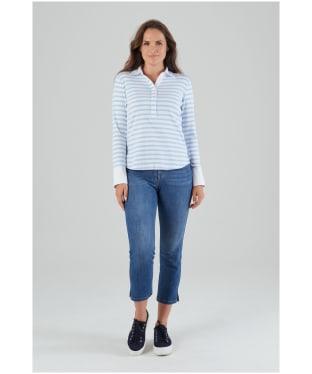 Women's Schöffel Salcombe Shirt - Harbour Stripe Cornflour Blue