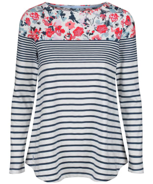 Women's Joules Harbour Print Top - Cream / Blue Floral