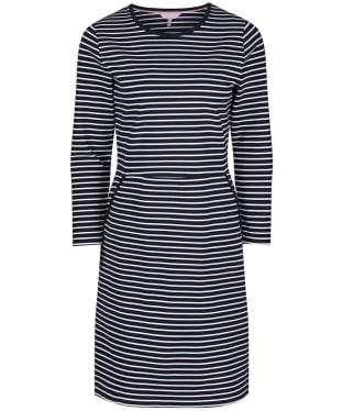 Women's Joules Emilie Dress - Navy / Cream Stripe