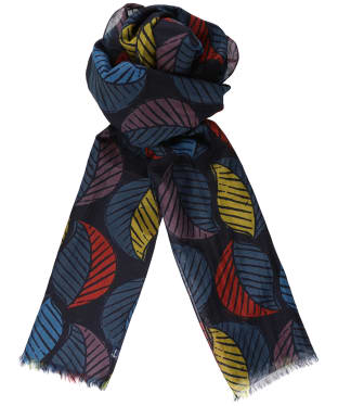 Women's Seasalt Ferry Landing Scarf - Latte Leaf Dark Night