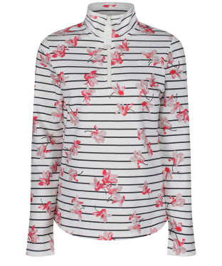 Women's Joules Fairdale Print Sweatshirt - Grey Floral Stripe