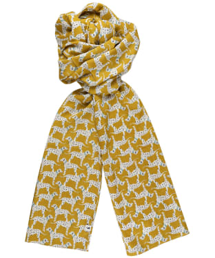 Women's Joules Conway Scarf - Gold Dalmatian
