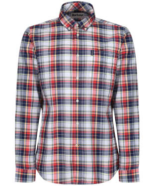 Men's Barbour Madras 5 Tailored Shirt - Pink Check