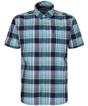 Men's Barbour Madras 5 S/S Tailored Shirt - Navy Check