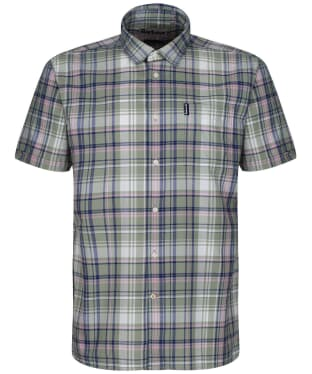 Men's Barbour Madras 6 S/S Summer Shirt - Olive Check