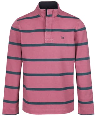 Men's Crew Clothing Padstow Pique Sweatshirt - Cassis / High Seas