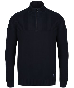 Men's Crew Clothing Textured Half Zip Jumper