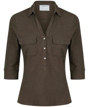 Women's Schoffel Marina Jersey Shirt Top - Dark Olive