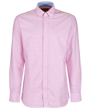 Men's Schöffel Soft Oxford Shirt - Pale Pink Gingham