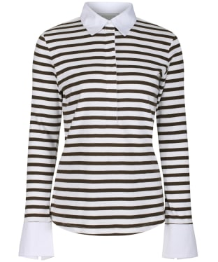 Women's Schöffel Salcombe Shirt - Harbour Stripe Dk Olive