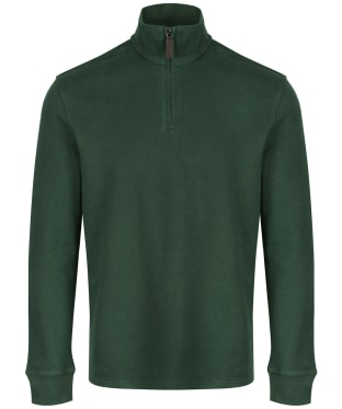 Men's Schöffel Cotton French Ribbed ¼ Zip Sweater - Sage