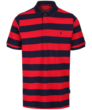 Men's Joules Filbert Polo Shirt - Pink / Navy Stripe
